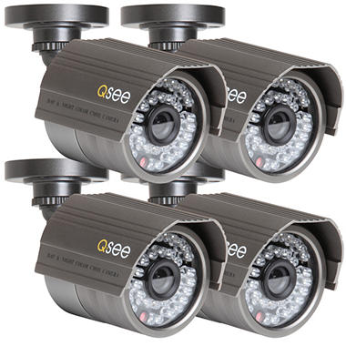 Q-See 4 Pack Premium High-Resolution Cameras