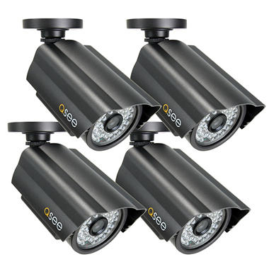 Q-See 4 Pack Premium High-Resolution CCD Cameras