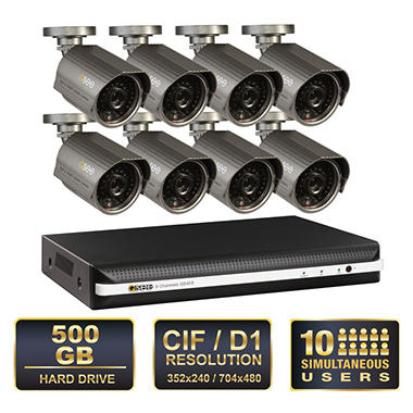 *$399 after $100 Instant Savings* Q-See 8 Channel Surveillance System with 8 Premium High-Resolution 600TVL Cameras & 500GB HDD