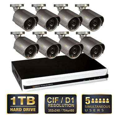 *$499 after $200 Instant Savings* Q-See 16 Channel Security System with 1TB Hard Drive and 8 600TVL Cameras