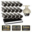 *$749 after $150 Instant Savings* Q-See 16 Channel Security System with 1TB Hard Drive, 15 600TVL Cameras with 100' Night Vision, and 1 Pan/Tilt Camera