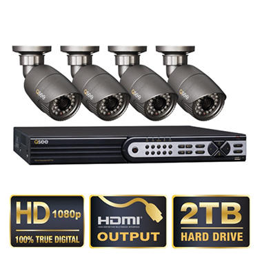 *$799 after $100.99 Tech Savings* Q-See 4 Channel HD SDI Security System with 2TB Hard Drive, 4 1080p Cameras, and 120' Night Vision