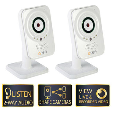 Q-See 2 Pack Easy View WiFi IP Cameras