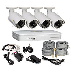 Q-See 4 Channel HD Security System with 1TB Hard Drive, 4 720p IP Cameras and 100' Night Vision