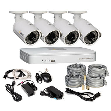 *$499 after $200 Tech Savings* Q-See 4 Channel HD Security System with 1TB Hard Drive, 4 720p IP Cameras and 100' Night Vision