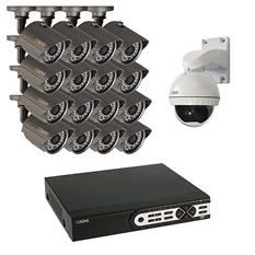 Q-See 16 Channel 960H Security System with 2TB Hard Drive, 15 900TVL Bullet Cameras, 1  Pan & Tilt Camera, and 100' Night Vision