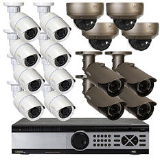 Q-See 32 Channel 1080P HD IP NVR Security System with 4TB Hard Drive, 12 3MP IP Bullet Cameras, and 4 3MP IP Dome Cameras