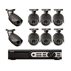Q-See 8 Channel Hybrid Security System with 2 HD 720p Cameras, 6 960H/900TVL Cameras, 1TB Hard Drive, and 80/100' Night Vision