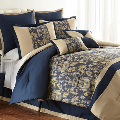 Amanda 8 Piece Jacquard Comforter Set - Various Sizes