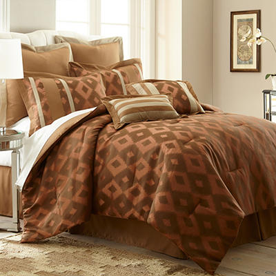 Sienna 8 Piece Jacquard Comforter Set - Various Sizes
