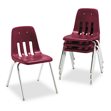 "Virco - 9000 Series Classroom Chair, 18"" Seat Height, 4/Carton - Various Colors"
