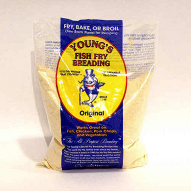 Young 39 s fish fry breading 5 lbs sam 39 s club for Fish fry breading