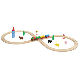 32 Piece Figure 8 Wooden Train Set