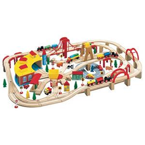 145 Piece Wooden Train Set
