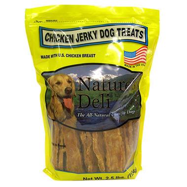 Nature's Deli Chicken Jerky Dog Treats - 2.5 lbs