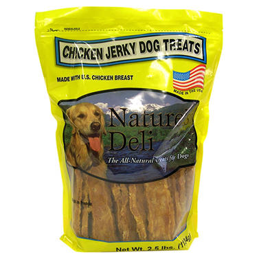 Nature's Deli Chicken Jerky Dog Treats - 2.5 lbs