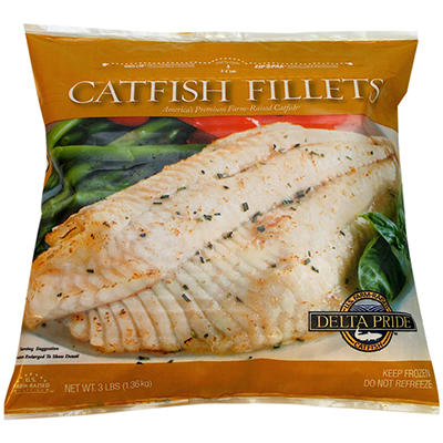 Delta Pride Catfish Fillets - 3 lbs.