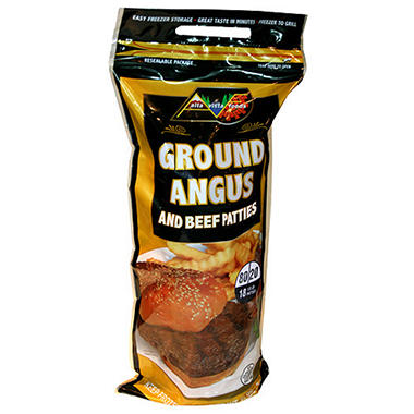AVF Ground Angus Patties - 18 ct.