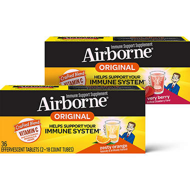 Airborne - Effervescent Tablets - Zesty Orange - 36 ct.
