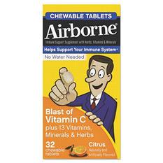 Airborne Immune Support Chewable Tablet, Citrus (32 ct.)
