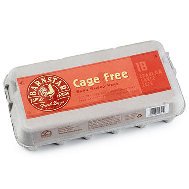 Barnstar Cage Free Eggs - Grade AA Large - 18 ct.