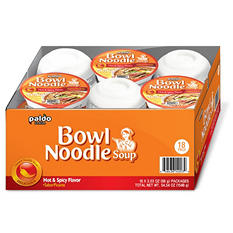 Paldo Hot and Spicy Noodle Bowl (3.03 oz., 18 ct.)