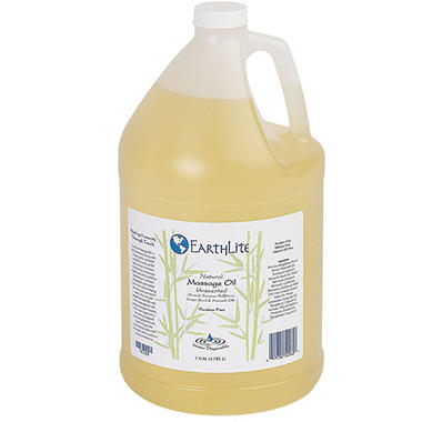 EarthLite Natural Unscented Massage Oil - 1 Gallon