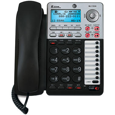 AT&T ML17939 2-Line Corded Speakerphone