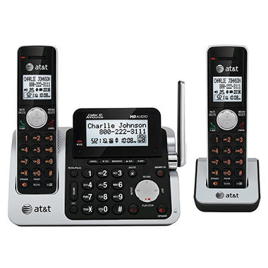 AT&T CL83201 DECT 6.0 Expandable 2-Handset Cordless Telephone with Answering System