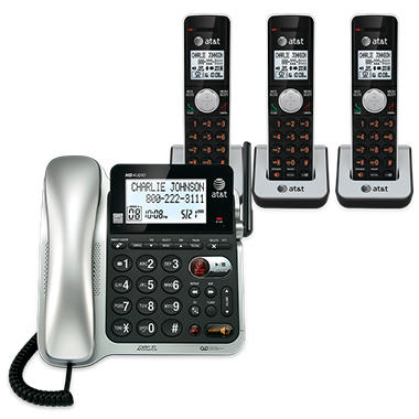 AT&T CL84352  3 Handset Corded/Cordless Answering System with Caller ID/Call Waiting