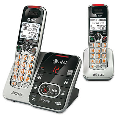 AT&T 2 Handset Answering System with Audio Assist