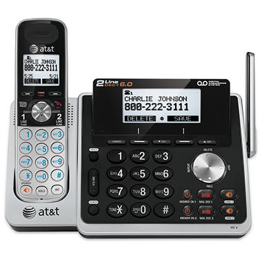 AT&T 2-Line Answering System w/ Dual Caller ID/Call Waiting