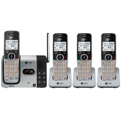 AT&T 4 Handset Answering System with Caller ID Announce/Call Waiting