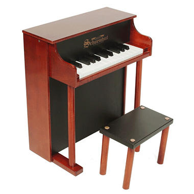 Schoenhut 25-Key Traditional Spinet-Mahogany/Black