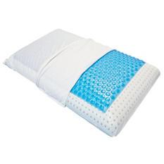 Euro Sleep USA - Queen Size Gel Ventilated Memory Foam Pillow w/Zippered Knit Cover