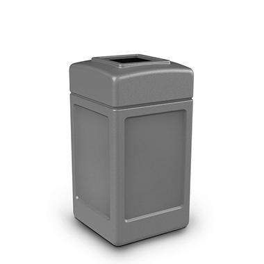 Commercial Zone Square Trash Can - Gray - 38 gal.