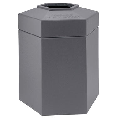 Commercial Zone Hexagon Trash Can - Gray - 45 gal.