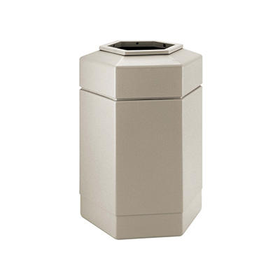Commercial Zone Hex Trash Can - Beige - 30 gal.