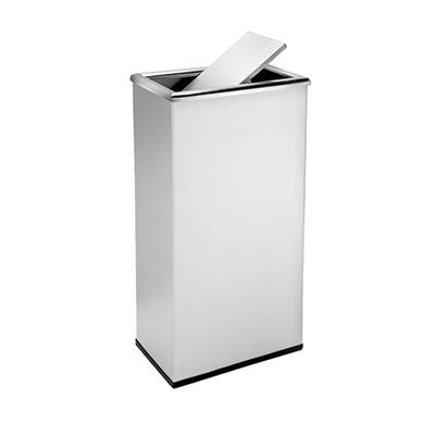 Precision Series Rectangular Trash Can - Stainless Steel - 13.5 gal.