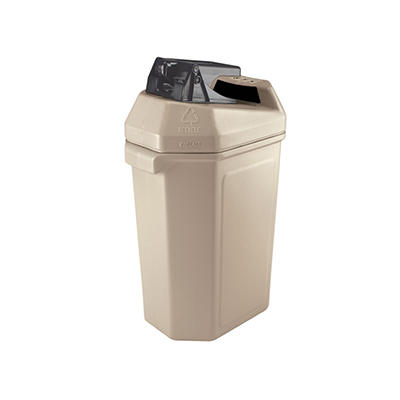 Commercial Zone Canpactor Recycling Container - Beige - 30 gal.