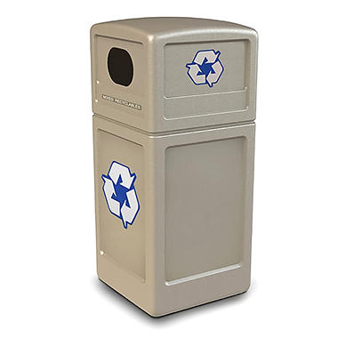 Commercial Zone Recycle Bin - Beige - 38 gal.