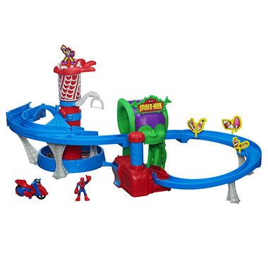 Playskool Heroes Spider-Man Web Racing Funhouse