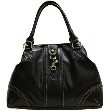 London Fog® Marissa Leather Tote - Black