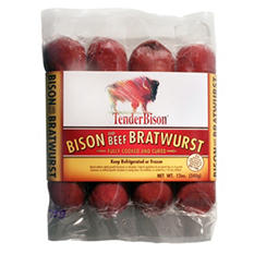 TenderBison Bison & Beef Bratwurst (3 oz. ea., 48 ct.)