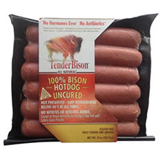 TenderBison 100% Bison Hot Dogs (2 oz. ea., 40 ct.)
