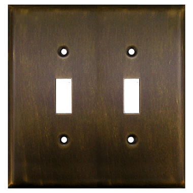DoubleToggle Switch in Antique Brass
