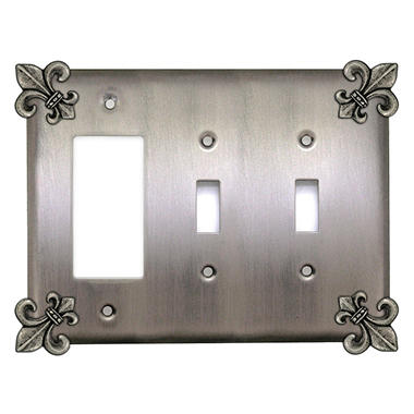 Fleur de Lis Combination Decora GFI/Double Switch