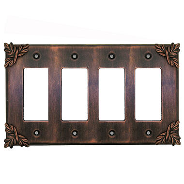 Sonnet Quad Decora GFI in Antique Copper
