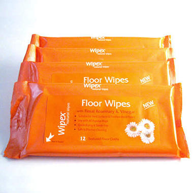 Wipex Natural Floor Wipes - 4 pks./ 12 each