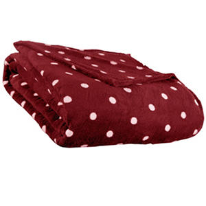 All Season Plush Dot Blanket - Various Sizes & Colors